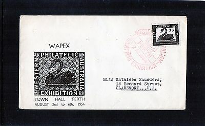 1954 WA Philatelic Exhibition Cover With Red Special Cancel, WAPEX, Addressed