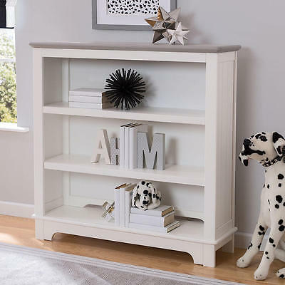 Delta Children Providence Bookcase/Hutch - White and Textured Grey