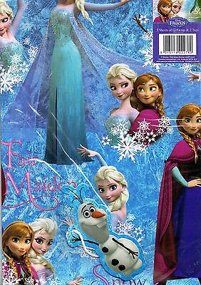 Frozen ~ Disney Elsa Anna Gift Wrap Wrapping Paper Olaf Gift Tag 2 Sheets & Tags