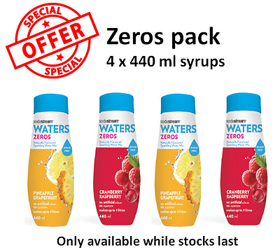 SodaStream 4-pack zero flavours - the only official SodaStream shop on ebay