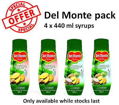 SodaStream 4-pack Del Monte flavours - the only official SodaStream shop on ebay