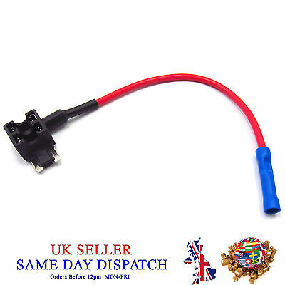 Add A Circuit Piggy Back Fuse Tap MICRO Blade Holder 12V Car Motor Motoped