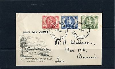 1946 Centenary Of Mitchell's Exploration Set Of 3 FDC, Addressed, Good Condition