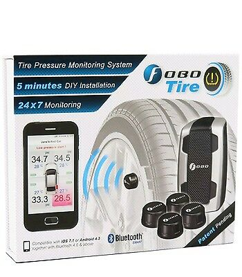 Fobo Tire Car Bluetooth Tyre Pressure Monitor TPMS x4 for iPhone iOS & Android