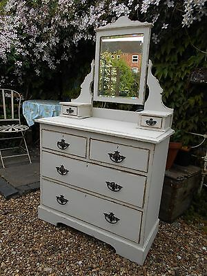 Antique  Victorian  Distressed Dressing  Table / Chest Shabby  Chic