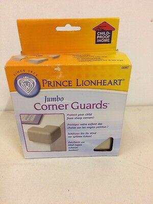 *NEW* PRINCE LIONHEART Jumbo Corner Guards Pack Of 4 Cushiony Foam Safety Baby
