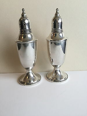 Sterling Silver Salt and Pepper Set by Webster & Co. in early 1900s