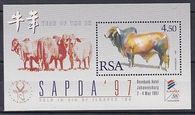 Sud Africa South Africa 1997 Bf 53 anno lunare del bue MNH