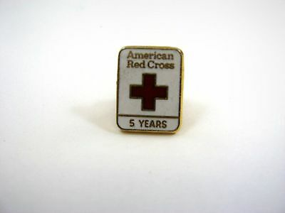 Vintage Collectible Pin: American Red Cross 5 Years 24KGP