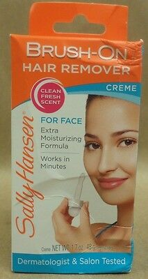 Sally Hansen Brush On Hair Remover Creme For Face with Soothing Aloe 1.7 oz New