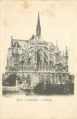 Cp Reims Cathedrale Abside 18055