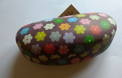 Large size flower pattern Hard Sunglasses Glasses Case and cleaning cloth