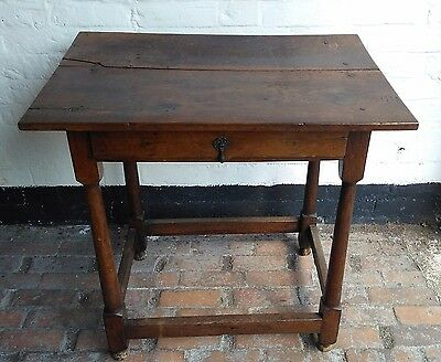 17th Century Oak Table With Original Drawer c1680