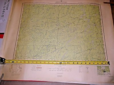 Lot of 8 Canada Maps Ontario Topographical Maps 1950's
