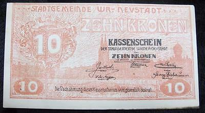 1918 Zehn Kronen Note * Austrian * 10 * Better Grade * Awesome Note!