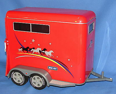 """Traditional Breyer Red Horse Trailer #2615----14"""" Long"""