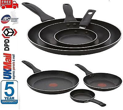 Tefal A762S344 3 Piece Easy Care Non-Stick Frying Pan Set With Thermospot Black