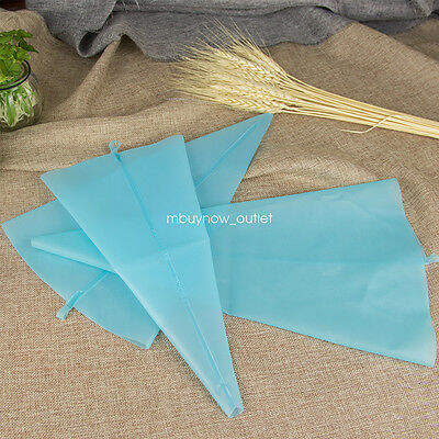 *3SIZES* Pastry Piping Silicone Icing Bag Cupcake Reusable DIY Decorating Cream