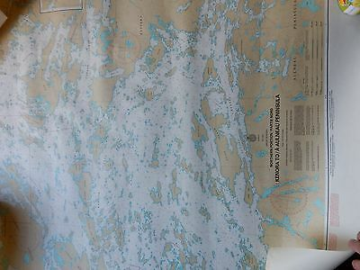 1978 Boating Map covering kenora to Aaluneau Peninsula, lake of the Woods