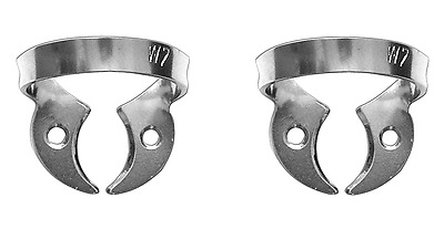 2 pc Rubber Dam Clamp for lower and upper molars (W7)