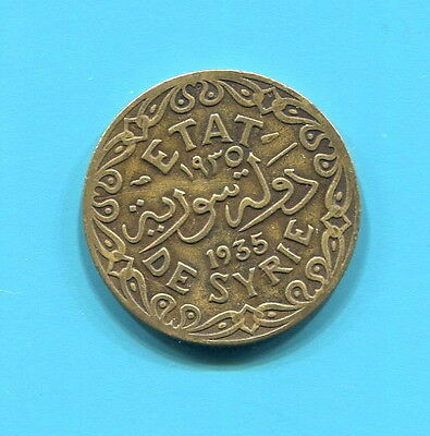 ETAT DE SYRIE - SYRIA - BEAUTIFUL HISTORICAL 5 PIASTRES, 1935 (a)