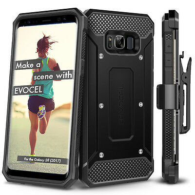 For Samsung Galaxy S8 / S8+ Case, Evocel Full Body Armor Case w/ Rugged Holster