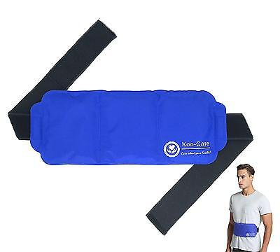 """Large Gel Ice Pack with Strap Hot & Cold Therapy 15""""x5.9"""" CE FDA Certificated"""