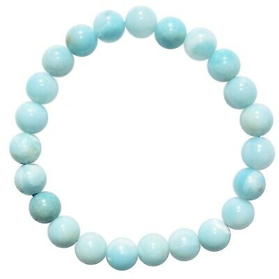 Premium CHARGED Amazonite Crystal 4mm - 8mm Bead Bracelet Stretchy ENERGY REIKI