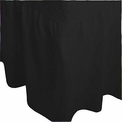 Plain Dyed Fitted Valance Bed Sheet Poly Cotton  Single Double  King Super King