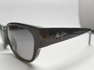 NEW Maui Jim ANINI BEACH Tortoise Peacock Blue Neutral gray Women's Sunglasses