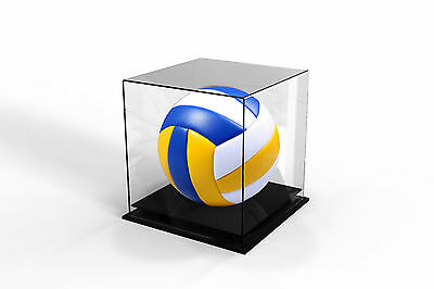 Volleyball Deluxe Display Case Acrylic Perspex  - BLACK - FREE POSTAGE