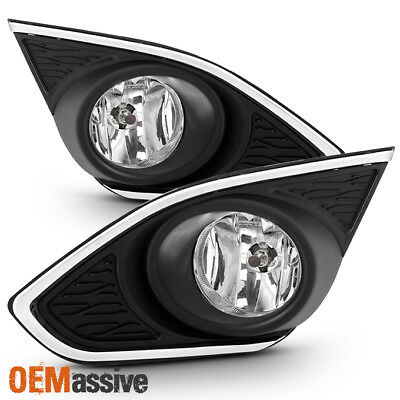 Fit 2013 2014 2015 Chevy Spark Clear Bumper Fog Lights Lamp Replacement w/Switch