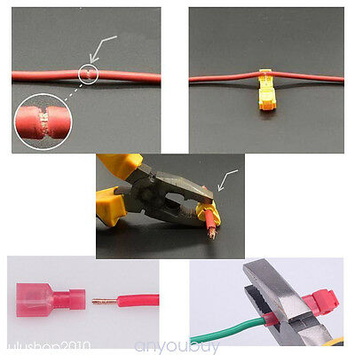 SALE T-Tap/Male Female Insulated Quick Wire Splice Terminal Connectors Set Hot