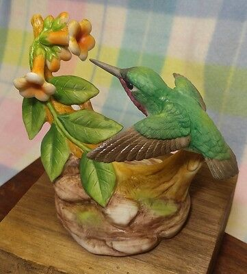 Charming Porcelain Hummingbird Figurine