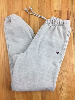 Vintage 90s Champion Sweat Pants Small Grey Made in USA Reverse Weave