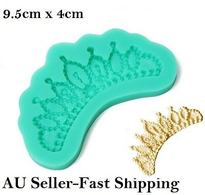 Crown Silicone Mould Princess Jewelled Tiara Fondant Mold  3D Cake Topper Hot