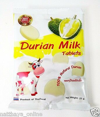 3 pcs Durian Candy Durian Milk Thai Fruit 100% Natural Product Thailand Snacks