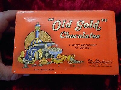 Vintage Macrobertson,s Old Country Gold Half Pound Nett Chocolates Box