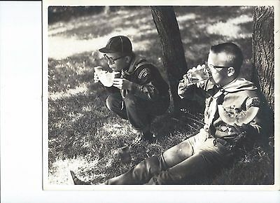 Collectible Vintage Photo Boy Scouts Jeromesville OH Picnic Late 1950s Early60s