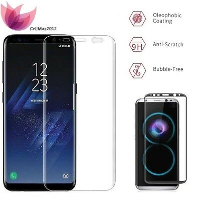 Samsung Galaxy S9 Plus S8 Tempered Glass Screen Protector Curved Full coverage