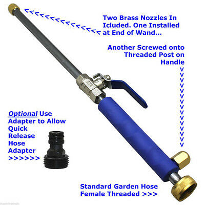 High Pressure Power Washer Spray Nozzle Water Hose Wand Attachment Aluminium New