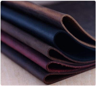 LEATHER Crazy Horse Oil Tanned Cowhide 2mm Thick Craft DIY Choose Size &Color