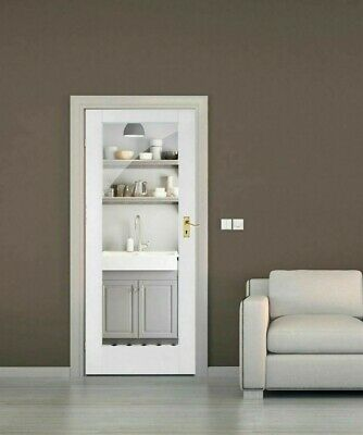 Internal White Door - Shaker 1 Lite Clear or Frosted Glass - Pattern 10 Door
