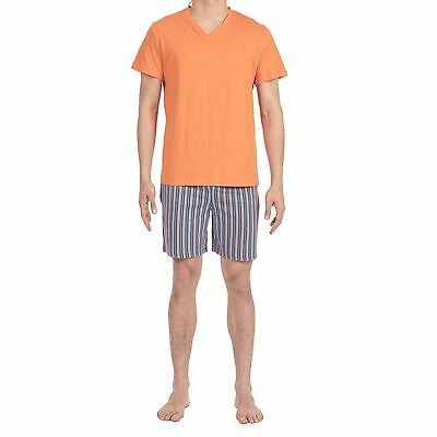 "PYJAMA  COURT  HOM  ""YOGIS""  ORANGE  taille  M-L-XL"
