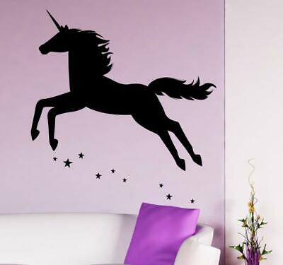 wandtattoo einhorn aufkleber wandbild wohnzimmer chf picclick ch. Black Bedroom Furniture Sets. Home Design Ideas