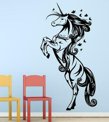 wandtattoo einhorn aufkleber wandbild wohnzimmer eur 8 00 picclick de. Black Bedroom Furniture Sets. Home Design Ideas