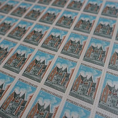 FEUILLE SHEET TIMBRE LE CLOS LUCE A AMBROISE N°1759 x50 1973 NEUF ** LUXE MNH