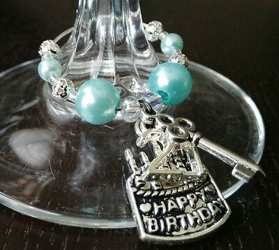 Birthday Wine Glass Charm  18Th, 21St,30Th, 40Th, 50Th  Or Any Age.