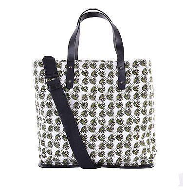 0235e7018e1 DOLCE & GABBANA Canvas Shopper Bag Tote w. Fruit Truck Print White Black  05519