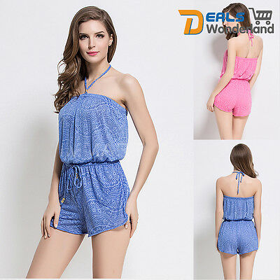 Womens Ladies Party Club Beach Sun Dress Playsuit Rompers Casual Jumpsuit